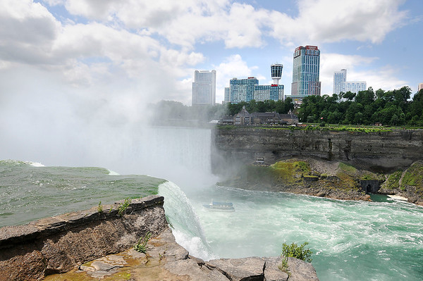 James Neiss/staff photographerNiagara Falls, NY - View from Terrapin Point approximately where high-wire walker Nik Wallenda's 2 inch wire will cross the Niagara Gorge.