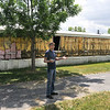 James Neiss/staff photographerNiagara Falls, NY - Saber Park Site Manager Russ Fedewa, said he was perplexed as to why a tenant would partially strip off some of the aluminum siding when moving out. Fedewa, said that though some tenants chose to turn their trailers over to the park in lieu of back rent and have been given notice to leave, those continuing to pay their rent can stay for the foreseeable future.