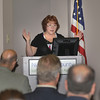 "James Neiss/staff photographerSanborn, NY - Susan Brown, president of Brown Electric, speaks on the topic ""IDA Incentives Coming Together,"" and how it's helping her business grow during the Niagara USA Chamber NCIDA Informational Seminar at the Vantage Center."