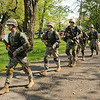 James Neiss/staff photographerSanborn, NY - Niagara University ROTC Jr. Cadets deploy for a situational training exercise at Bond Lake. The cadets are preparing for a leadership, development and assessment course at Fort Lewis in the State of Washington this summer.