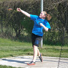 James Neiss/staff photographerLewiston, NY - Grand Island track athlete Jess Bamberg  participates in the discus competition during a track meet at Lew-Port.