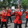 James Neiss/staff photographerLewiston, NY - Members of the Sanborn Fire Company Marching Band play for the spectators at the Lewiston Memorial Day parade.