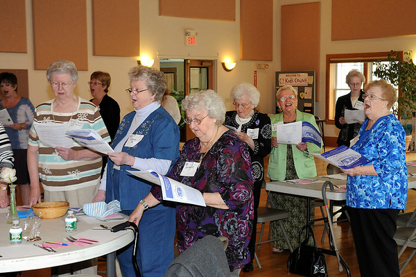 James Neiss/staff photographerYoungstown, NY - Members of the Church Women United of Niagara Falls all sing songs as part of their May Friendship Day celebration at the Youngstown Presbyterian Church.