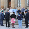 James Neiss/staff photographerNiagara Falls, NY - Mayor Paul Dyster joined members of the community on the steps of city hall for a morning prayer. Thursday was the National Day of Prayer.