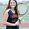 James Neiss/staff photographerSanborn, NY - Niagara Wheatfield girls tennis player Liz Barrett is the Niagara Gazette Tennis Player of the Year.