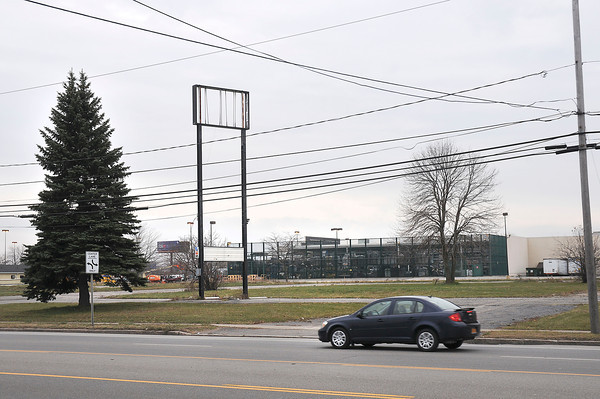 James Neiss/staff photographerNiagara Falls, NY -  A driveway, an empty lot and a sign post are all thats left of a motel in the 6100 Block of Niagara Falls Boulevard. There is a proposal to build a new hotel at that location.