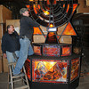 James Neiss/staff photographerNiagara Falls, NY - Our Lady of Fatima Shrine maintenance manager Brian Brant, right, and his brother Ron Brant, a volunteer, prepare the former Temple Beth Israel menorah, a gift from the now closed temple, for display at the upcoming Festival of Lights. The Festival of Lights kicks off this Saturday at 5 p.m. and runs through January 6.