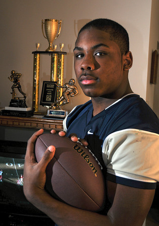James Neiss/staff photographerNiagara Falls, NY - Canisius High School football player Qadree Ollison of Niagara Falls, is a Niagara Gazette Player of the Year.