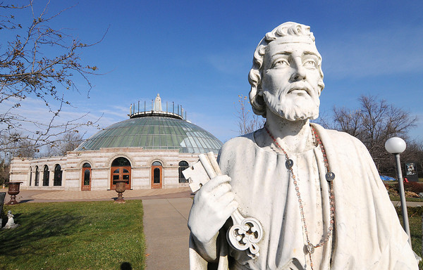James Neiss/staff photographerNiagara Falls, NY - St. Peter and many other saints watch over the ground of Our Lady of Fatima Shrine. The shrine is visited by the faithful from around the world.