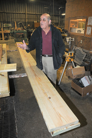 James Neiss/staff photographerNiagara Falls, NY - Art Garabedian believes woodworking has a calming effect and is offering a free woodworking class to returning vets who are having a hard time dealing with reintegration after their military service.