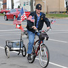 James Neiss/staff photographerNiagara Falls, NY - A patriotic Kevin Thompson of Niagara Falls, had his bicycle appropriately decorated for the Veterans Day holiday weekend as he goes for a ride on Hyde Park Boulevard.