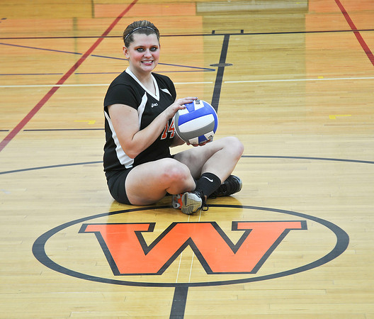 James Neiss/staff photographerWilson, NY - Wilson girls volleyball player Lindsay Bryer is the Niagara Gazette Volleyball Player of the Year.