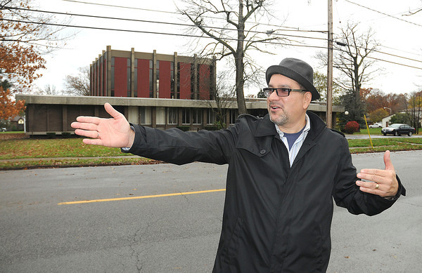 James Neiss/staff photographerNiagara Falls, NY - Rev. Lou Perez of the Destiny Christian Church, moved his congregation from their church on Hyde Park Boulevard, into the former Beth Israel Temple on College Avenue, where they will celebrate a grand opening at 6 p.m. sunday, Nov. 11.