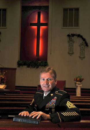 James Neiss/staff photographerNiagara Falls, NY - MILITARY APPRECIATION: Rev. Robert Scott, the new pastor at Calvary Baptist Church, is holding a military appreciation service and free meal on Sunday to honor area veterans. Scott, seated here in his uniform inside the church, spent 25 years in the U.S. Army and retired as a command sergeant major before beginning his ministry.  Nine weeks ago he arrived in Niagara Falls with his wife Kim from Augusta, Ga. to take the role as pastor for Calvary Baptist Church at Pine Avenue and Hyde Park Boulevard. The military appreciation service is planned for 10:45 a.m. Sunday at the church. A free meal open to all will be catered by Michael's Restaurant at noon. Those needing a ride or more information are asked to call the pastor at 255-5507.