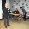 James Neiss/staff photographerNiagara Falls, NY - NAIL BITER: New York State Assembly 145th District candidate Robert M. Restaino and staff, nephew Anthony Restaino, center and Pat Roberto, right, tabulate results that poll runners dropped off and called in results at his Pine Avenue campaign headquarters.