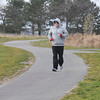 James Neiss/staff photographerLewiston, NY - THE SECRET IS OUT: David Cecere of Niagara Falls takes his daily run on the new nature trails at Reservoir State Park. Cecere, said he loves to run here and was surprised he hasn't seen more doing the same.