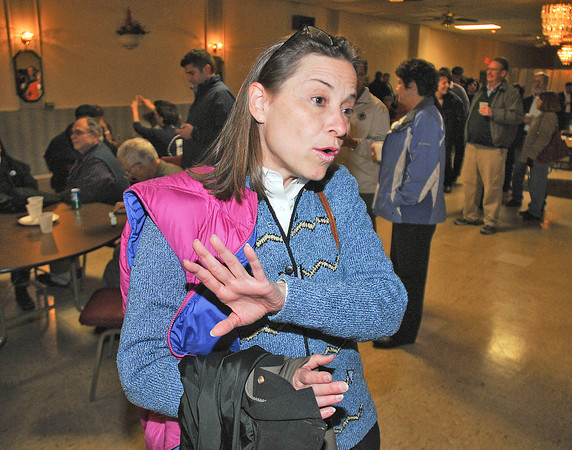 James Neiss/staff photographerNiagara Falls, NY - New York State Senate candidate Amy Witryol, said she had no idea how her numbers were as none were coming in.
