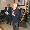 James Neiss/staff photographerNiagara Falls, NY - New York State Assembly 145th District candidate Robert M. Restaino, addresses supporters at the American Legion Frederick F. Cadille Post 1664. Restaino was leading in the polls with about 19 districts yet to come in. Niagara County Democratic Chair Nick Forester is all smiles at left.