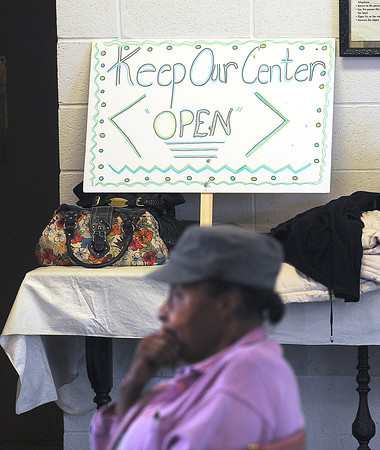 James Neiss/staff photographerNiagara Falls, NY - Niagara County Office For the Aging nutrition program participants at St. John's AME Church are worried the popular nutrition program is going to be canceled by the County. Local officials visited the church to discuss the possibility on Thursday.