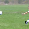 James Neiss/staff photographerGrand Island, NY - Grand Island #12 Bridget Kennedy kicks the ball during soccer game action against Cheektowaga in the Section VI Class A Pre-Quarterfinal.