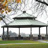 James Neiss/staff photographerNiagara Falls, NY - A grand pavillion centered on the softball diamonds is part of the $6 million upgrade at Reservoir State Park funded by NYPA as part of their relicensing agreement.