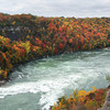 James Neiss/staff photographerNiagara Falls, NY - When the sun shined through the clouds, the peak colors at Whirlpool State Park made for a brilliant sight on Monday.