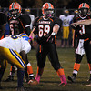 James Neiss/staff photographerWilson, NY - Wilson Football Player #69 Steven Szuba gets ready for a play during playoff game action against Cleveland Hill.