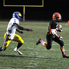 James Neiss/staff photographerWilson, NY - Wilson Football Player #23 Christopher Reid runs in for a touchdown during playoff game action in the 1st quarter against Cleveland Hill.