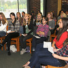 James Neiss/staff photographerNiagara Falls, NY - Students from Ernestinenschule, Lubeck, Germany participated in  a Townhall style meeting with students at Lewiston-Porter High School.