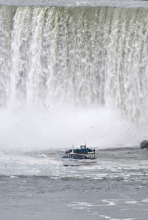 James Neiss/staff photographerNiagara Falls, NY - The Maid of the Mist carries its passengers close to the Canadian Horseshoe Falls.