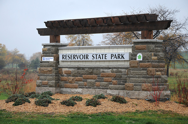 James Neiss/staff photographerNiagara Falls, NY - New York Power Authority and New York State Office of Parks officials held a ceremonial ribbon cutting officially opening Reservoir State Park after a $6 million upgrade funded by NYPA as part of their relicensing agreement.