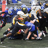 James Neiss/staff photographerAmherst, NY - Toledo running back David Fluellen, from Lockport, carries the ball in the first quarter of football game action at UB.