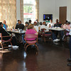 James Neiss/staff photographerNiagara Falls, NY - Director of the Niagara County Office For the Aging Ken Genewick visited with seniors at St. John's AME Church to discuss cutting the county nutrition program offerings.