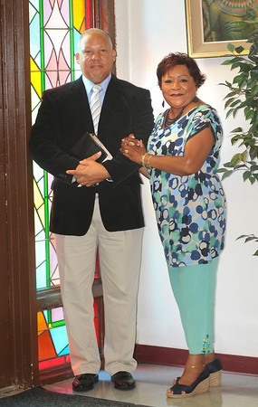 James Neiss/staff photographerNiagara Falls,  NY - The Rev. Bruce D. Points, Sr., poses for a photo with his wife Cassandra. Rev. Points, Sr.,  is the new pastor of St. John A.M.E Church.
