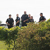 James Neiss/staff photographerNiagara Falls,  NY - Police agencies including the Niagara County Sheriff Department, Lewiston Police and US Customs and Border Protection officers search the roadways around the St. Mary's medical complex for a parole violator that left the hospital. The Saint Mary's Child Care Center, behind, was in lockdown during the search.