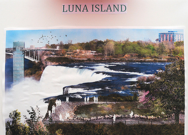 James Neiss/staff photographerNiagara Falls,  NY - Officials announced improvements to Niagara Falls State Park that include Luna Island, featuring better handicap access and new landscaping.