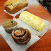 James Neiss/staff photographerNiagara Falls, NY - Gluten free bake goods at Sweet Bee Lin's Cafe and Bake Shop include Blueberry Muffins, Cinnamon Rolls and Soft White Bread.