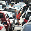 James Neiss/staff photographerNiagara Falls, NY - Labor Day holiday shoppers nearly filled the parking lot at the Fashion Outlets of Niagara Falls on Monday.