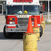 James Neiss/staff photographerNiagara Falls,  NY - Niagara Falls Firefighter Bart Derosa maneuvers Truck 3 around an obstacle course at the old public safety building on Hyde Park Boulevard to gage his fire engine driving proficiency.
