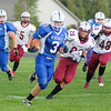 James Neiss/staff photographerGrand Island, NY - Grand Island #3 Danny Blocho runs with the ball during the first quarter of football game action against Starpoint.