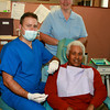 130820 Dentist 1.jpgPaul Batson/Contributor<br /> Dr. Robert Jenkins,seated, Sister Nora Sweeny, standing & Mr. Robert Brown, patient at Mt. St. Mary's Neighborhood Health Clinic/Hospital