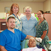 Paul Battson/Contributor<br /> 130820 Dentist 3Pictured (l-r) Robert Jenkins, DDS; Melissa Loor, MA; Sister Nora Sweeny, DC; and patient Mr. Robert Brown
