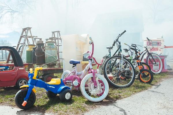 Items outside of D&J Bicycles at 2209 Niagara Falls Blvd.
