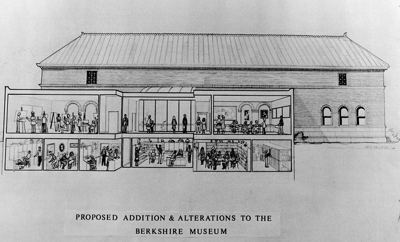 Concept drawing for Berkshire Museum expansion in 1984.
