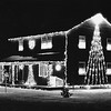 Christmas decorations, Micheal Rinaldi House, Adams.  Undated.  Photo by Mark Mitchell