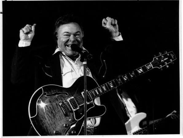 "Convention Center - Bookings<br /> Festival of Lights<br /> ""Clowning Around""<br /> Roy Clark Concert at the Convention Center.<br /> Tammy Wynette opened the show.<br /> Photo - By James Neiss - 11/25/1990."
