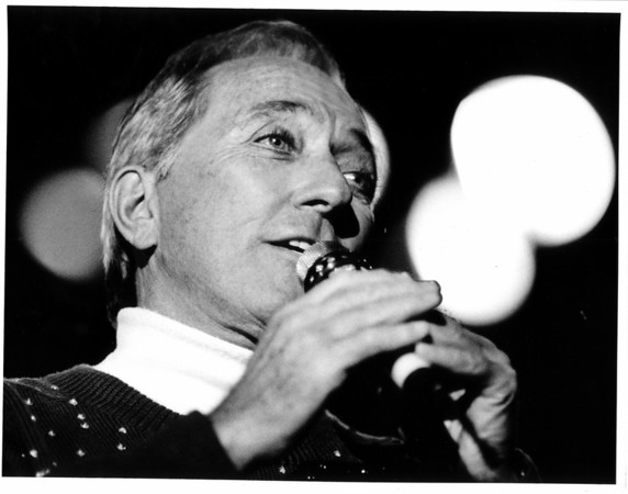 Convention Center - Bookings<br /> Andy Williams at Convention Center.<br /> Photo - By James Neiss - 12/19/1988.