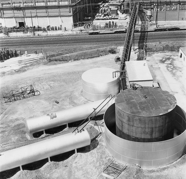 Oil tanks at General Electric, undated.