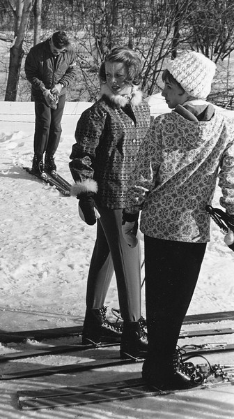 skiing, January 1961. Photo by William Tague.