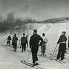 Skiers at Farnam's in the Berkshires ski area, January 5, 1941. Photo by William Whitaker
